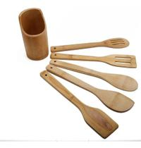 Porta Utensílios De Cozinha Bambu C Colher De Pau Espatulas - Dolcehome