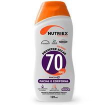 Protetor Solar FPS 70 Facial e Corporal Bisnaga 120ML NUTRIEX
