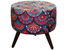 Puff Decorativo Redondo Mandala Alegria
