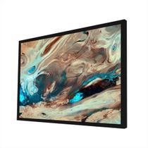 Quadro Decorativo - Abstrato Aquarela Areia E Azul