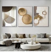Quadro decorativo Geométrico moderno pintura ouro