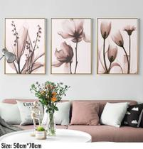 Quadro decorativo rosa floral impressão da arte