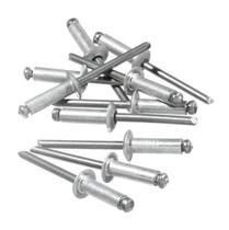 Rebite Pop Repuxo Alumínio Tamanho 306 com 100 Unidades