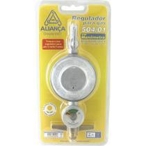 Regulador para Gás Aliança 504/01 Médio sem Mangueira com Manômetro Blister