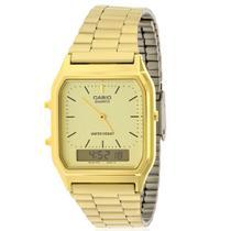 Relógio casio aq-230ga-9dmq - anadigi dourado