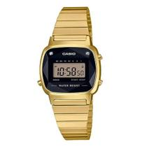 Relógio Feminino Casio Vintage LA670WGAD-1DF - Dourado Com Diamantes Naturais
