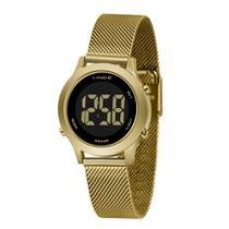 Relógio LINCE DIGITAL SDPH110L PXKX Dourado Pulseira Estilo Esteira