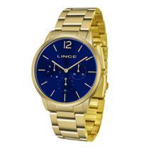 Relógio LINCE Feminino LMGJ087L-D2KX Dourado com Fundo Azul