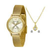 Relógio lince Feminino LRGH141L KY25C2KX - com  Kit colar + Brinco