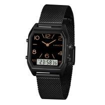 Relógio LINCE LANH119L P2PX  - Preto - Pulseira Estilo Esteira
