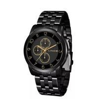 Relógio LINCE LMN4589l P2PX Preto com detalhes dourados