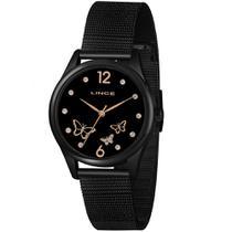 Relógio LINCE LRNJ105L P2PX Analógico Preto Pulseira Estilo Esteira