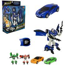 Robo Transforme Carro Hero Squad Warrior Com Acessorio Colors Na Caixa Wellkids REF: WB 5331