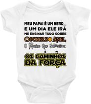 Roupa Body Bebê Infantil Ensinamento Nerd - TAMANHO RN