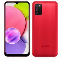 """Samsung Galaxy A03s Vermelho, com Tela Infinita de 6,5"""", 4G, 64GB e Câmera Tripla de 13MP + 2MP + 2MP - SM-A037MZRGZTO"""