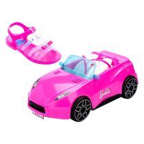 Sandália Infantil Barbie Pink Car 22166 acessorio carro de brinde