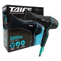 Secador De Cabelo Silencioso Taiff Style Preto e Azul 2000w 220v