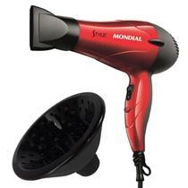 Secador de cabelos mondial viagem 1200w potente com difusor