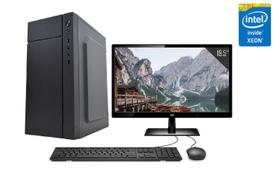"""Servidor Desktop Computador Intel Xeon Quad Core 8GB HD 1TB Placa de vídeo Geforce GT Monitor 19.5"""" CorPC Safe"""