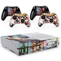 Skin Adesivo Protetor para X Box One S e Controles Grand Theft Auto GTA b4