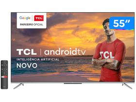 "Smart TV 4K UHD LED 55"" TCL 55P715 Android Wi-Fi"