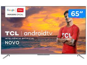 "Smart TV 4K UHD LED 65"" TCL 65P715 Android Wi-Fi"