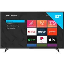 "Smart TV LED 32"" AOC ROKU S5195/78G, HD HDMI USB e Wi-Fi Integrado"