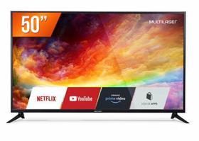 "Smart TV LED 50"" Ultra HD 4K Multilaser TL019 Conversor Digital 3 HDMI 2 USB"