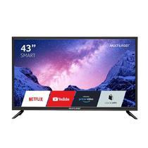 Smart TV Multilaser 43 LED Full HD HDMI USB Com Conversor Digital TL024