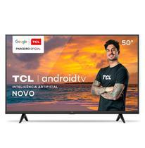 """Smart TV TCL LED 4K UHD HDR 50"""" Android TV com Comando por controle de Voz, Google Assistant e Wi-Fi - 50P615"""