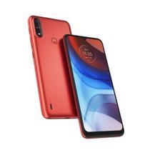 """Smartphone Moto E7 Power, 32GB, Tela 6.5"""", Câmera Traseira 13MP+2MP, Vermelho  MOTOROLA"""