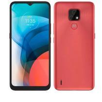 "Smartphone Moto E7 XT2095-1 4G 64GB Cam Dupla de 48 MP + 2 MP Tela de 6,5"" Cobre"
