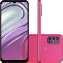 Smartphone Moto G20 64GB 4GB RAM 4G Wi-Fi Dual Chip Câmera Quádrupla Selfie 13MP Tela 6.5'' Pink