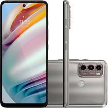 "Smartphone Moto G60 128GB 6GB RAM 4G Wi-Fi Dual Chip Câmera Tripla + Selfie 32MP Tela 6.8"" Champagne"