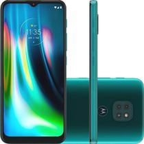 Smartphone Moto G9 Play 64GB Dual Tela 6.5 4G Wi-Fi Câmera 48MP + 2MP + 2MP - Verde Turquesa