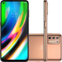 "Smartphone Moto G9 Plus 128GB Android 10 Tela 6.8"" Câmera Quadrupla 64MP + 8MP+ 2MP + 2MP- Ouro Rose - Motorola"