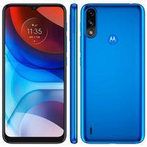 """Smartphone Motorola E7 Power 32GB 4G Tela 6.5"""" Câmera Dupla 13MP 2MP Frontal 5MP Azul Metálico"""