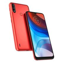 """Smartphone Motorola E7 Power 32GB 4G Tela 6.5"""" Câmera Dupla 13MP 2MP Frontal 5MP Vermelho Coral"""
