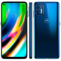 Smartphone Motorola G9 Plus 128GB 4G Câmera Quádrupla 64MP 8MP 2MP 2MP Frontal 16MP Azul Índigo