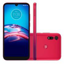 """Smartphone Motorola Moto E6S 64GB 4GB Tela 6.1"""" Câmera Dupla 13MP 2MP Frontal 5MP Vermelho Magenta"""