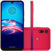 Smartphone Motorola Moto E6s 64GB  Ram 4GB Camera 13MP+2MP Tela 6.1 Vermelho Magenta