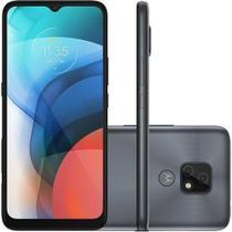 Smartphone Motorola Moto E7 64GB Dual Chip Android 10 Tela 6.5 Câmera 48MP + 2MP - Cinza Metálico