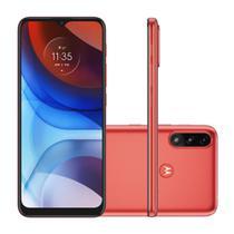 """Smartphone Motorola Moto E7 Power 32GB 2GB RAM  Câmera Dupla 13MP Tela 6.5"""" - Vermelho Coral"""