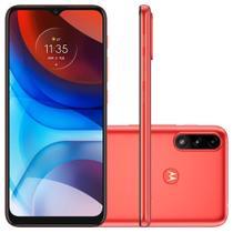 Smartphone Motorola Moto E7 Power 4G, 32GB, RAM 2GB, Octa-Core, Câmera Dupla, 5000mAh, Vermelho Coral - PAMG0001BR