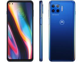 """Smartphone Motorola Moto G 5G Plus 128GB - Azul Oceano 5G 8GB RAM Tela 6,7"""" Câm. Quádrupla"""