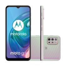 "Smartphone Motorola Moto G10 64GB 4GB RAM  Câmera Quádrupla 48MP Tela 6.5"" - Branco Floral"
