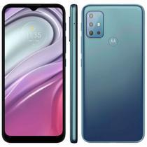 "Smartphone Motorola Moto G20 64GB 4G Tela 6.5"" Câmera Quádupla 48MP 8MP 2MP 2MP Frontal 13MP Azul"