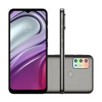 "Smartphone Motorola Moto G20 64GB 4GB Ram 4G Wi-Fi Câmera Quádrupla + Selfie 13MP Tela 6.5"" Grafite"