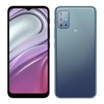 """Smartphone Motorola Moto G20 Azul,Tela de 6.5"""",4G+Wi-Fi,And. 11,Câm. Tras. de 48+8+2+2MP,Frontal de 13MP,4GB RAM,64GB"""