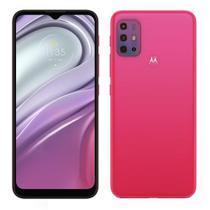 """Smartphone Motorola Moto G20 Rosa,Tela de 6.5"""",4G+Wi-Fi,And. 11,Câm. Tras. de 48+8+2+2MP,Frontal de 13MP,4GB RAM,64GB"""